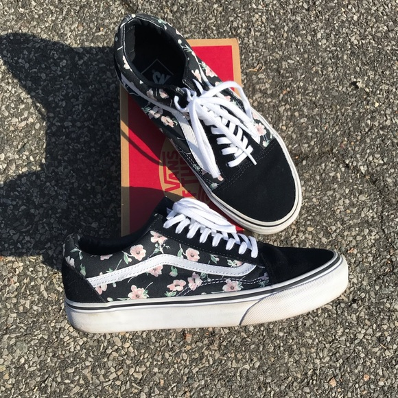vans old skool vintage floral skate shoe off 51% www